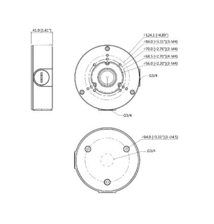Dahua PFA130-E přídavný límec pro kamery