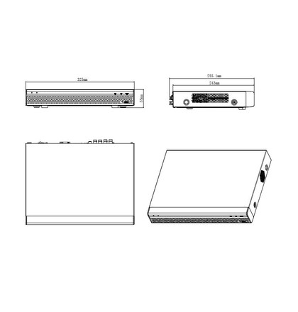 Dahua XVR5104HE-X pentabridní videorekordér 4kanálový