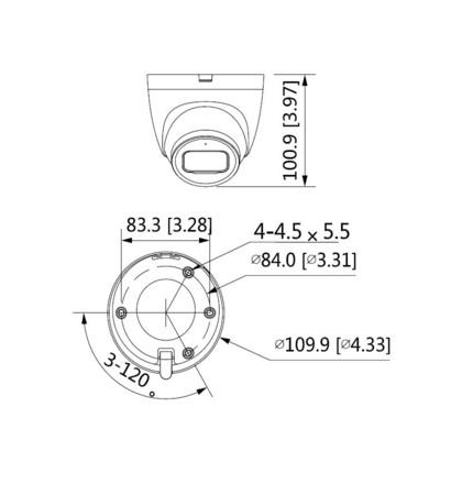 Dahua IPC-HDW2231T-AS-0280B-S2 2 Mpx dome IP kamera