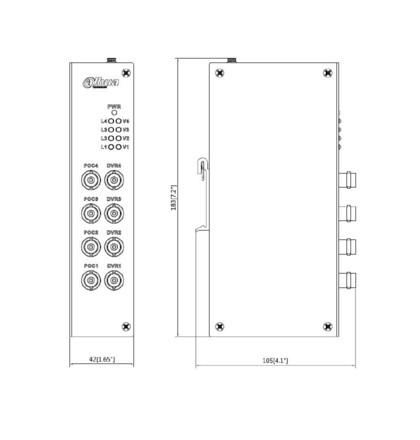 Dahua PFM811-4CH 4ch POC distributor