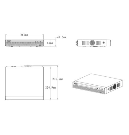 Dahua XVR4104HS-S2 pentabridní videorekordér 4kanálový